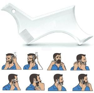 Image 3 - 2019 男性のひげテンプレートstylingtool両面ひげ整形コーム美容ツールシェービング脱毛カミソリツール男性のための