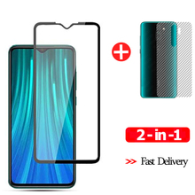 9H Front Protective Glass For Xiaomi Redmi Note 8 Pro Screen Protector Tempered Glass+Xiomi Back Film