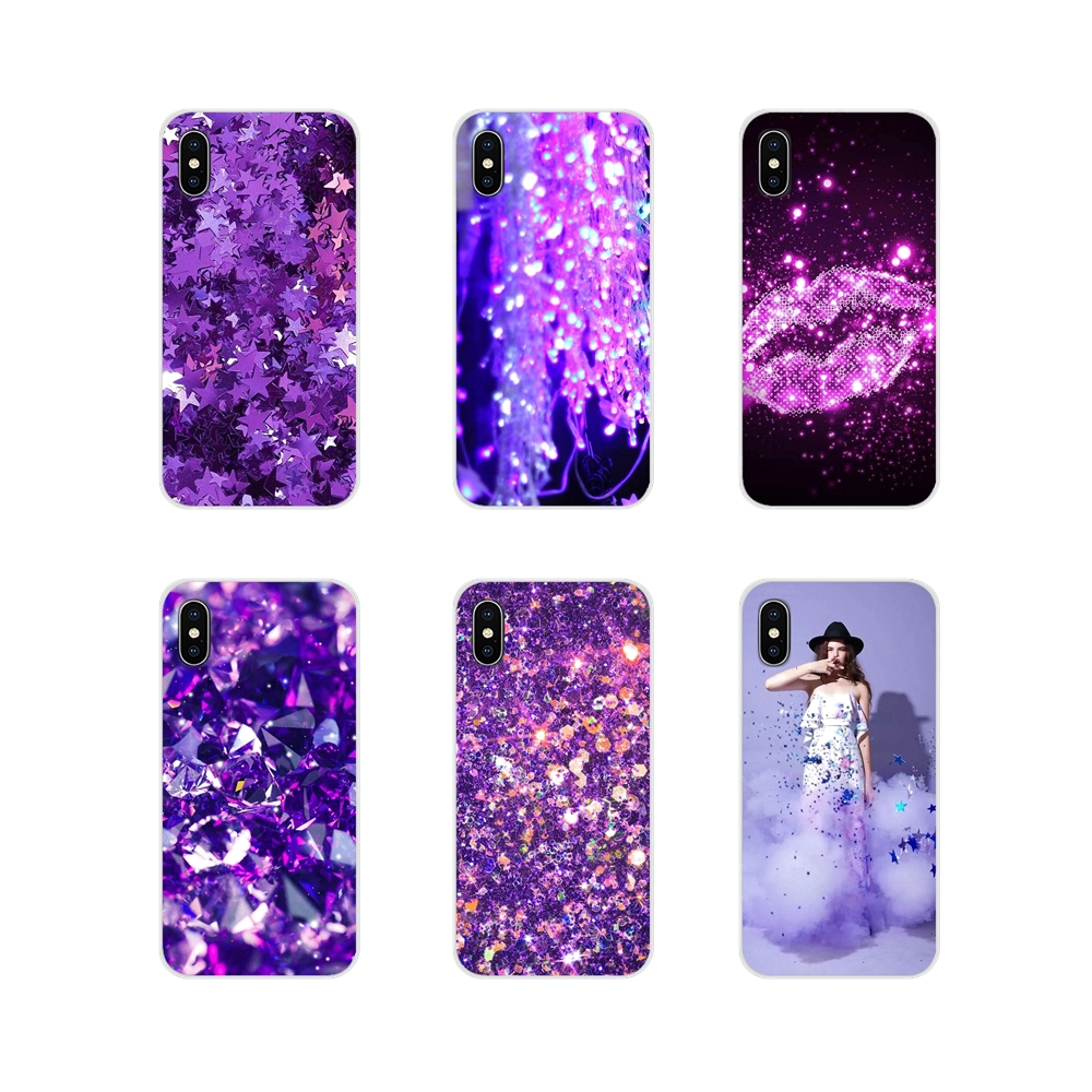 Gradually Purple <font><b>Glitter</b></font> Silicone Phone Shell <font><b>Cases</b></font> For <font><b>Oneplus</b></font> 3T 5T 6T Nokia 2 <font><b>3</b></font> 5 6 8 9 230 3310 2.1 <font><b>3</b></font>.1 5.1 7 Plus 2017 2018 image