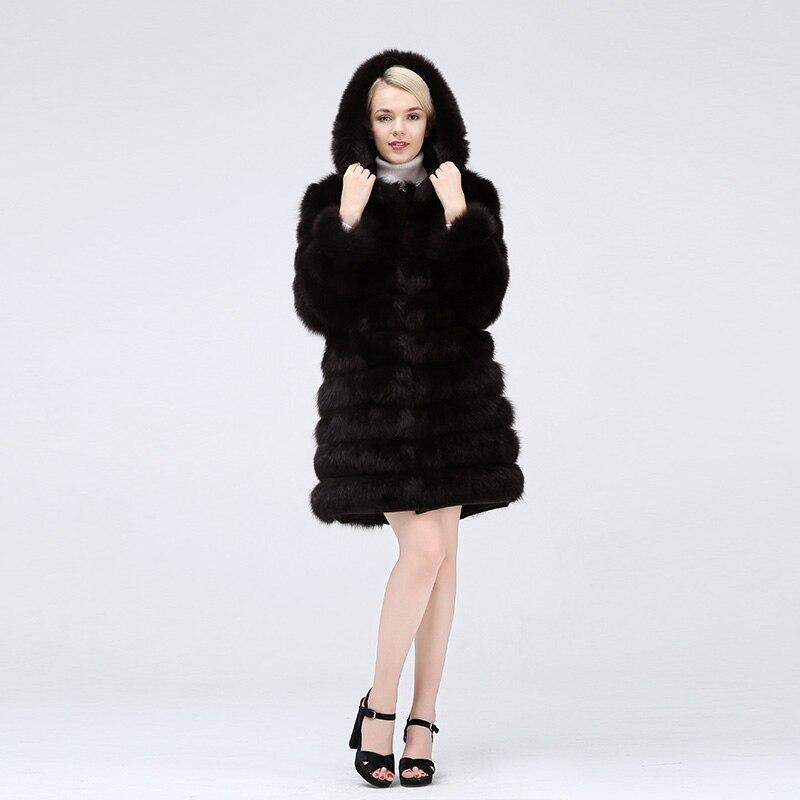 Nouveau style réel manteau de fourrure 100% fourrure naturelle veste femme hiver chaud en cuir renard manteau de fourrure de haute qualité gilet de fourrure livraison gratuite