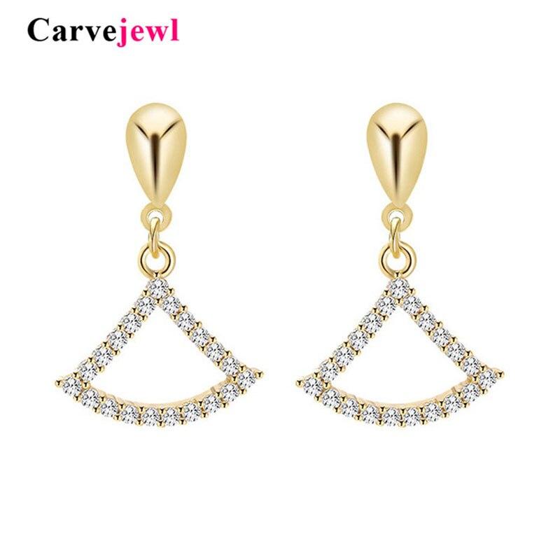 Carvejewl romântico bonito brincos forma setor rabo de peixe de cristal strass acrílico pérola gota dangle brincos para mulheres jóias