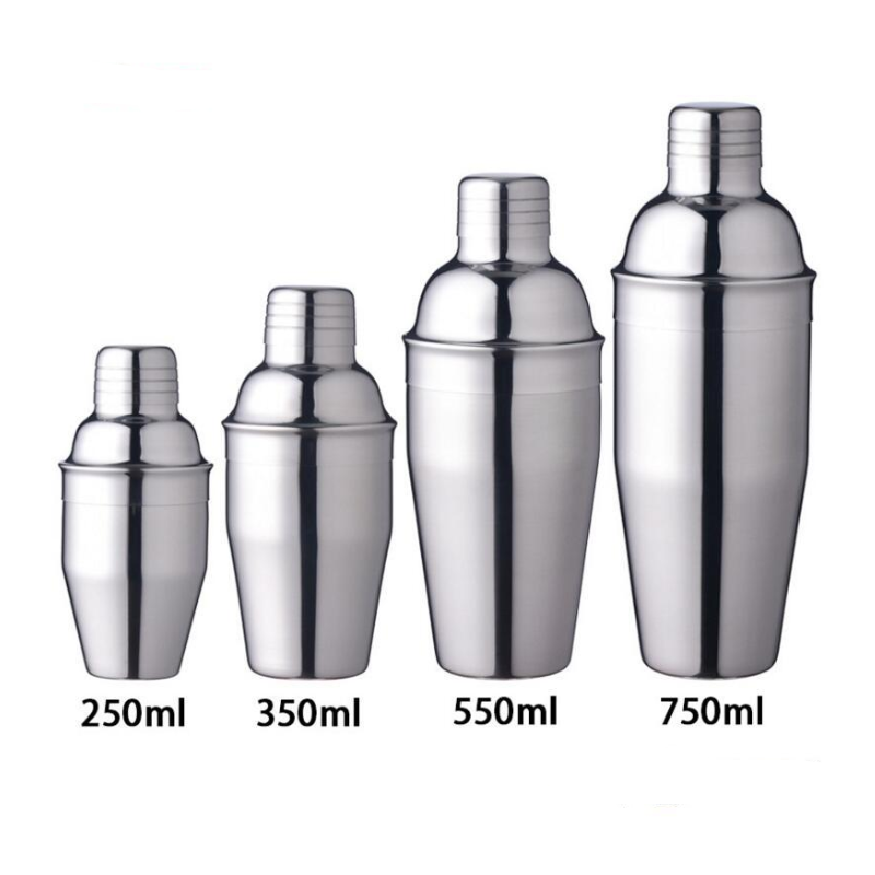 Cocktailshaker Silver Stainless Steel Cocktail Shaker  Cocktail Party Shaker Bar Drink For Martini Mixer Wine Sharker