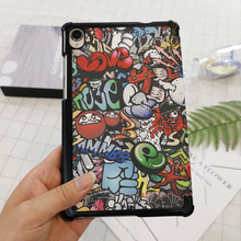 Cover for Lenovo Tablet Case PU Leather Magnecit Folding Sta