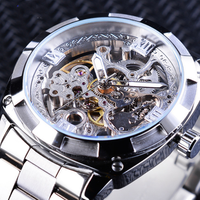Automatic mechanical watch hollow waterproof steel belt men's watch automatic mechanical watch