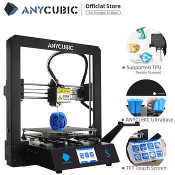 ANYCUBIC Mega-S 3D Printer Upgrade Printer Kits Large Plus Size Full Metal TFT Screen Printer 3d High Precision 3D Drucker 1