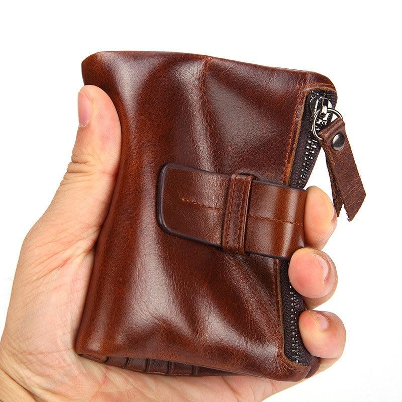 homens com zíper moeda bolso fivela desgin