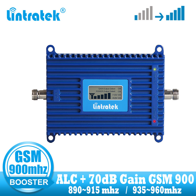 Lintratek Cellular Signal Booster GSM 2G 900mhz 70dB Mobile Phone Signal Booster Repeater GSM 900 MHZ Communication Amplifier