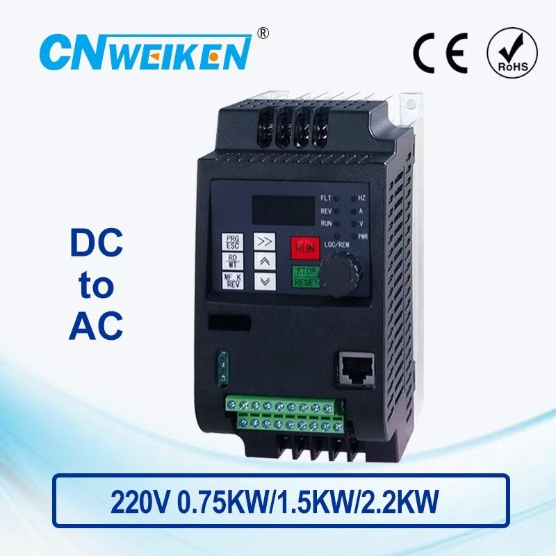 PV solar inverter DC zu AC drei-phase konverter 220V 0,75 kw/1,5 kw/2,2 kw/4kw mit MPPT Steuerung für solar pumpe