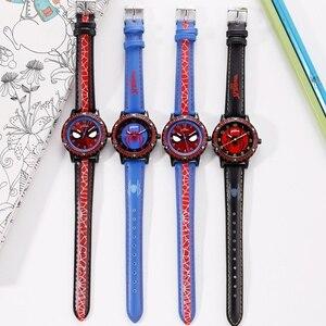 Image 3 - Spidermen Child Super Hero Cool Quartz Watch Marvel Student Clock Time Boys Birthday Gift Kids Relogio Infantil Zegarek Relojes