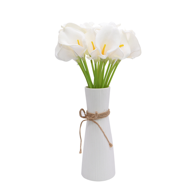 10Pcs High Quality Real Touch Calla Lily Artificial Flowers Calla Lily Bouquet For Wedding Bouquet Bridal Home Flower Decoration 3