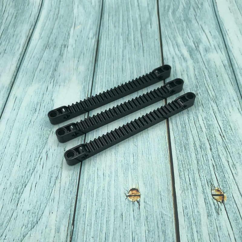 10 Stks/partij Mocs Onderdelen Compatibel Met Logos 64781 Technic Gear Rack 1X13 As En Pin Gaten Bouwsteen onderdelen Set Diy Speelgoed