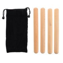 Instrumento de percusión para principiantes, palo rítmico con bolsa de transporte, 2 pares