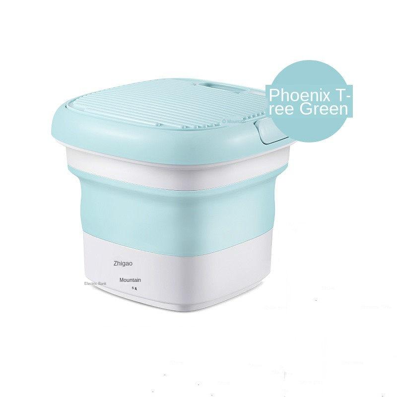 Mini Washing Machine Portable Mini Tub Washing Machine RVs 5L-BLUE Apartments Foldable Personal Compact Ultrasonic Turbines Rotating Washer Portable Lazy Magic Laundry Machine for Camping