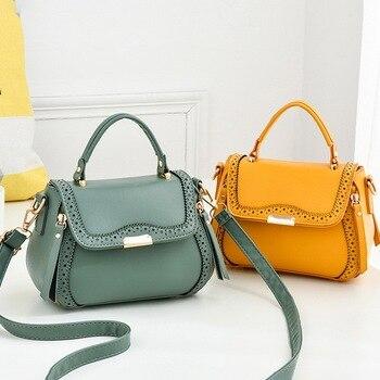 Hollow out bolsas femininas Women PU Leather handbags female Crossbody Shoulder Bag Brand Fashion Designer Casual Ladies Bags