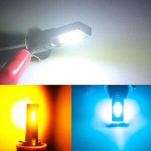 Image 5 - 2PCS H3 H1 Auto Nebel Led lampen 3030 12 LED Canbus Lampe DRL Auto Fahren Laufen Lampe Auto leds Lampe Weiß 12V