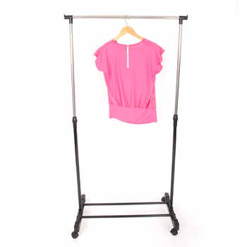 Coat Rack Stainless Steel Simple Assembly Can Be Removed Bedroom Move Clothes Hanger Drying Furniture Clothes Hanger Shoe Shelf