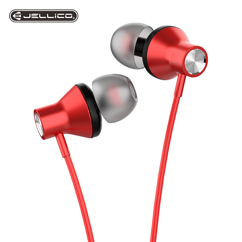 Jellico Wired Earbuds Headphone 3.5mm In Ear Earphone Earpiece WithMic Stereo Headset 2 Color For Samsung Xiaomi Phone Computer
