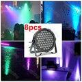 8 шт. DMX512 управление сценическое освещение стирка 54 1 Вт rgbw led par диско-бар плоский par led