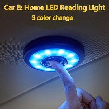 Luz de lectura LED de coche de techo lámpara magnética para JEEP Wrangler JEEP GRAND CHEROKEE renegado patriota comandante Interior Accesorios