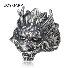 New Adjustable 925 Sterling Silve Dragon Ring For Men Domineering Personality Fashion Jewelry Opening Rings TSR111