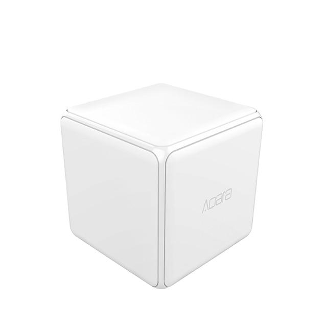 Aqara 매직 큐브 컨트롤러 Zigbee 버전은 스마트 홈 장치 TV 스마트 소켓을위한 전화 app로 6 가지 동작을 제어했습니다.