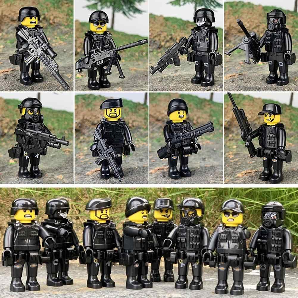 Militaire Special Forces Soldaten Bricks Cijfers Auto Guns Wapens Gewapende SWAT Bouwstenen Kinderen Speelgoed Compatibel Legoings