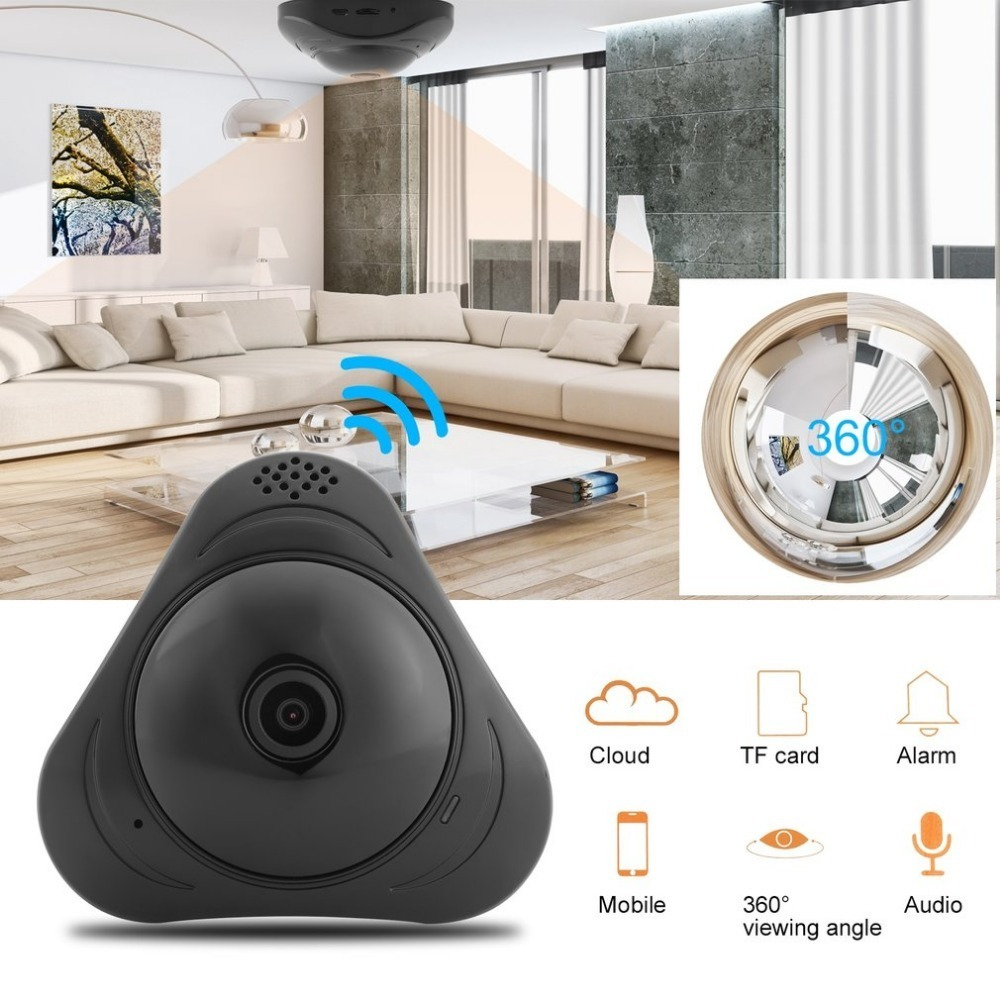 960P VR WI-FI 360 Degree Panoramic Camera Motion Detection Fisheye'S Smart Wireless IP Camera For Home Monitor EU Plug