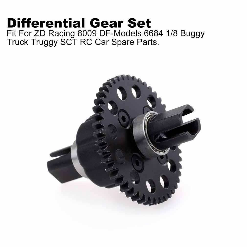 2019 46T 1.0Mo Center Differentieel Tandwiel Set Voor ZD Racing 8009 DF-Modellen 6684 1/8 Buggy Truck truggy SCT RC Auto Onderdelen