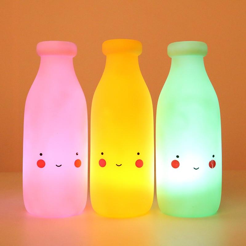 Cute Smiley Baby bottle Appease Glow Night Light Feeding Light Baby Sleeping Children's Bedroom Light Toy Kids Gift for New Year
