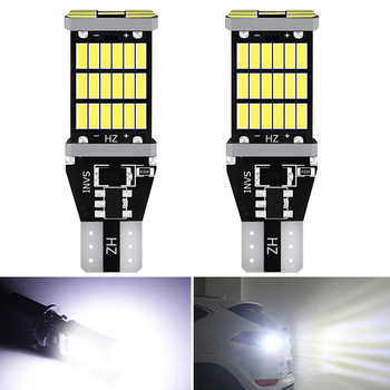 2x T15 led 921 W16W Canbus Car Backup Reverse Bulb Lights for BMW E46 E36 E39 E60 E90 E91 E92 G30 E87 E83 E53 X3 X5 F10 F11 F30 image