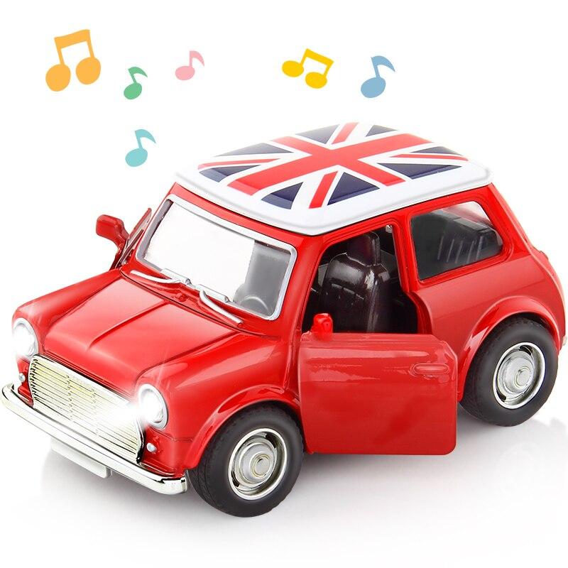 1:38 liga de carro puxar para trás diecast modelo brinquedo som luz coleção brinquedos do veículo carro para meninos crianças presente natal|Carrinhos de brinquedo e de metal|   -