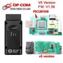 Melhor pic18f458 + ftdi chip op com v5 versão v1.59/v1.99 2014v firmware obd2 op-com scanner opcom para opel