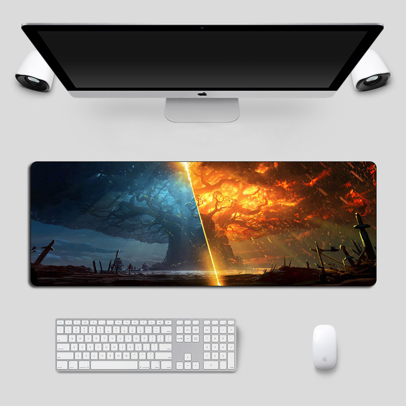 Large 80x30cm Warcraft Gaming Mouse Pad Gamer Battle Of Azeroth Rubber Locking Edge Computer Keyboard Pad Laptop Desk Mat