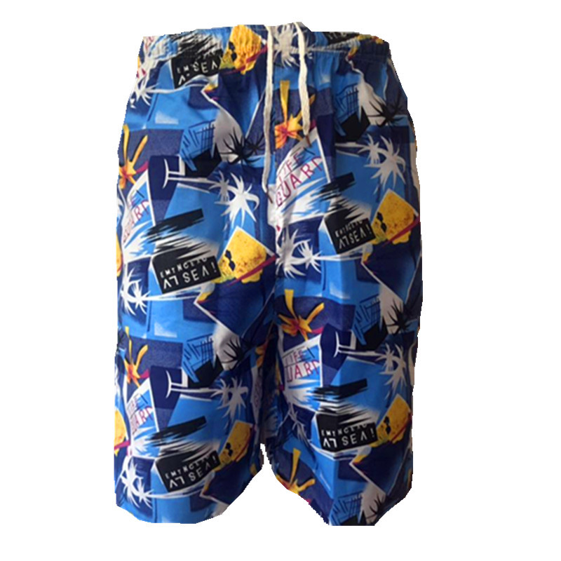 Beach Shorts Men's Short Casual Quick-Dry Printed Rafting Surfing Booth Goods Swimming Trunks
