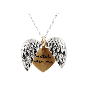 Sloong New Hot Feather Wholesale Vintage Style Unisex Open Locket Wing Heart Pendant Free Dropshipping(China)