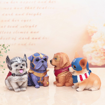 цена на Money Box Dog Piggy Bank Home Decor  Marvel Avengers Money Saving Box Coin Box Home Decoration Crafts Birthday Gifts For Kids