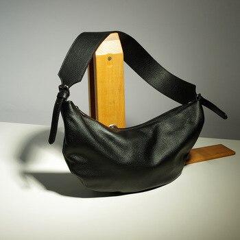Classic vintage unisex handbag women bag hobos style man Chest Bags Normcore Minimalist designer cowhide genuine leather