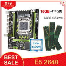 Conjunto da placa-mãe de kllisre x79 x79g com xeon lga2011 e5 2640 c2 4x4gb 1333mhz ddr3 ecc reg memória M-ATX usb2.0 pci-e nvme