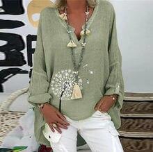 Chemise à manches longues et col en v pour Femme, chemisier imprimé Floral