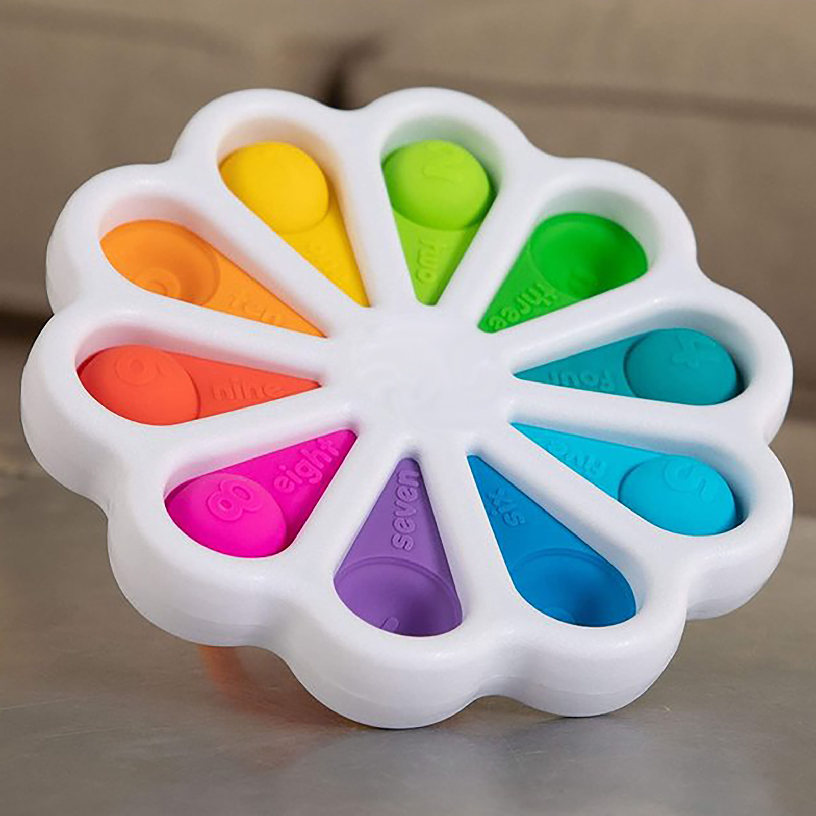 Fidget Simple Dimple Toy Flower Fidget Toys Stress Relief Hand Toys Early Educational img3