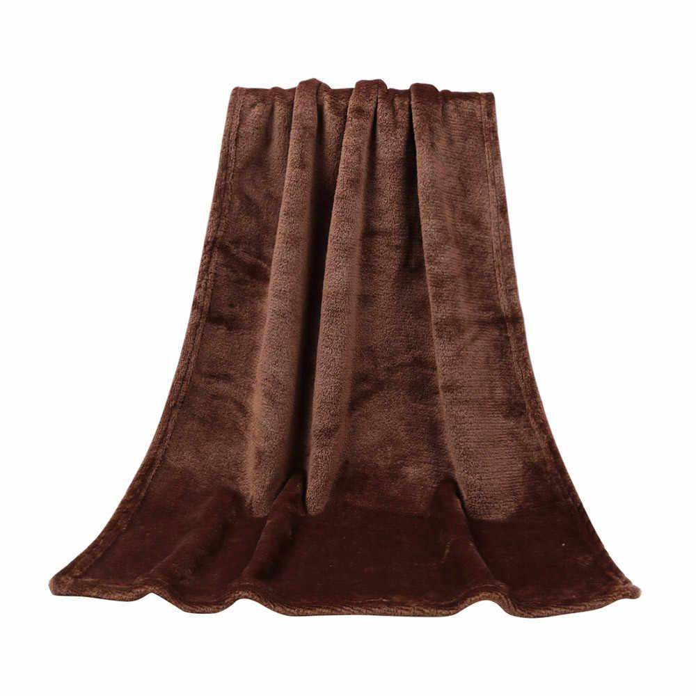 45*65 cm moda sólido macio lance crianças cobertor quente coral cobertores flanela casa melhoria produto para cama sofá quente # r5