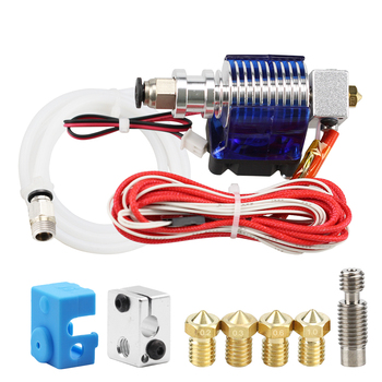 3D Printer J-head Hotend for 1.75mm/3.0mm e3d v6 Bowden Wade Extruder 0.2mm/0.3mm/0.6mm Nozzle 3d printer parts cyclops 2 in 1 out 2 colors hotend 0 4 1 75mm 12v 24v fan bowden with titan bulldog extruder multi color nozzle