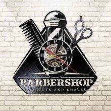 Watch Barber Longplay-Clock Toolkits-Decorative Hairdresser-Hair Led-Wall-Light 3d-Decor