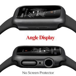 Image 3 - מט כיסוי עבור אפל שעון סדרת 6 5 4 38MM 44mm 40mm מסגרת מגן מקרה כיסוי מעטפת פגוש מקרה עבור iWatch 5 4 כיסוי 42MM