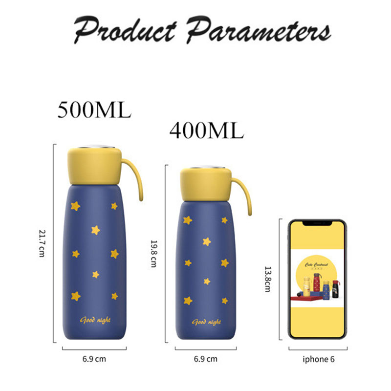 500ml Stainless Steel Vacuum Flasks Coffee Mug Portable Tea Water Bottle Milk Vacuum Thermos Insulated Leakproof sport Thermocup