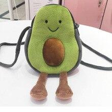 The-Shoulder-Bag Plush Korean-Version Cartoon Cute of Avocado All-Match Students New