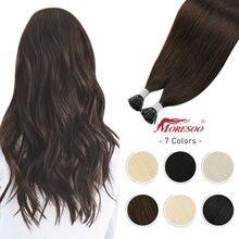 Наращивание волос moresoo i tip холодного слива бразильские