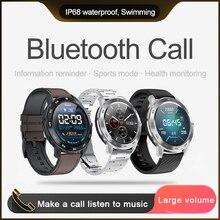 Reloj inteligente KSR909 con pantalla táctil, IP68, detección de ECG, resistente al agua, con diales cambiables, pulsera inteligente de Fitness
