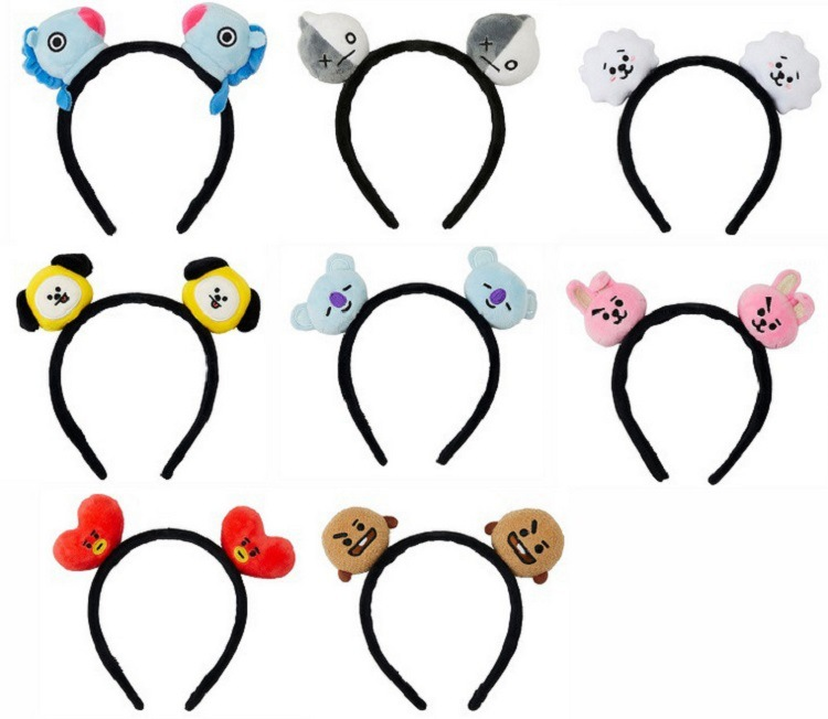Hoop-Accessories Headbands Plush-Hair Bangtans Korean-Style Boys Fashion Cartoon Kpop