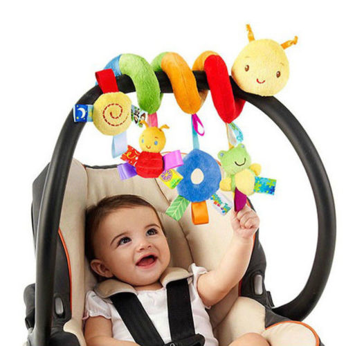 Hot Baby Activity Spiral Toy Cute Spiral Crib Stroller Car Seat Activity Hanging Toys Baby Rattles Toy